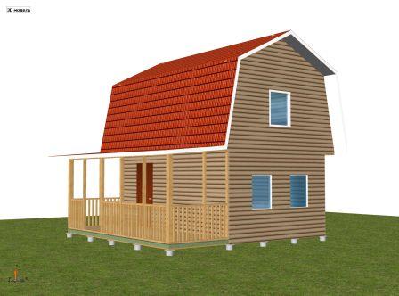 каркасный дачный дом 4 х 6 м