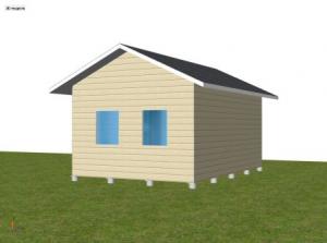 Проект дома из пеноблока 61-00 в Краснодаре :: Готовые
