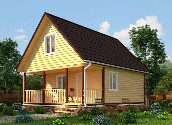 двухэтажный дачный дом 6 х 8 м