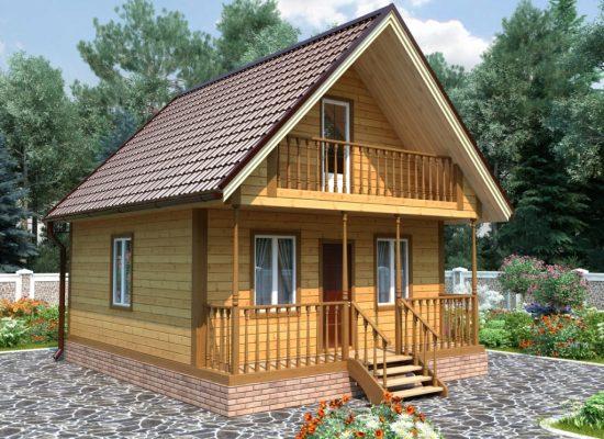 дачный дом 6 х 6 м