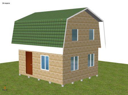 двухэтажный дачный дом 5 х 6 м