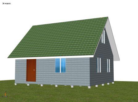 каркасный дачный дом 6 х 7 м