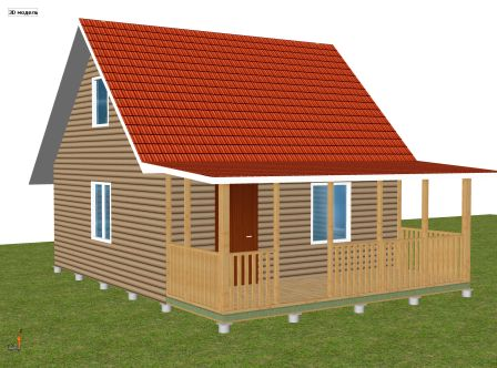 каркасный дачный дом 5 х 6 м